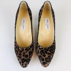 Jimmy Choo Leopard Print Calf Hair Pumps